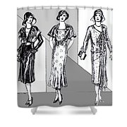 1930s Dresses Shower Curtain