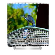 1931 Chevrolet Ae Independence Hood Ornament Shower Curtain by Paul Ward