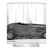 1932 Ford Hi Boy Hot Rod Shower Curtain