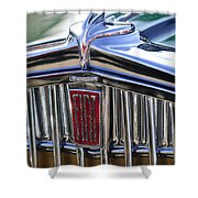 1933 Fiat Balilla Hood Ornament Shower Curtain