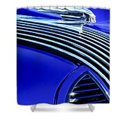 1936 Pontiac Hood Ornament Shower Curtain