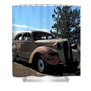 1937 Plymouth Shower Curtain