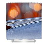1938 Chevrolet Hood Ornament Shower Curtain