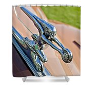 1942 Packard Darrin Convertible Victoria Hood Ornament Shower Curtain