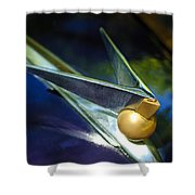 1947 Lincoln Continental Hood Ornament Shower Curtain