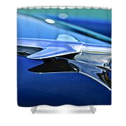 1951 Chevrolet Hood Ornament Shower Curtain