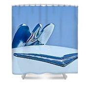 1954 Chrysler New Yorker Deluxe Hood Ornament Shower Curtain