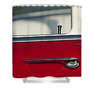 1955 Chevrolet 210 Door Handle Shower Curtain