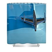 1955 Chevrolet Belair Hood Ornament 2 Shower Curtain