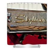 1957 Ford Skyliner Retractable Hardtop Emblem Shower Curtain