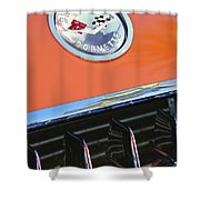 1958 Chevrolet Corvette Hood Emblem Shower Curtain