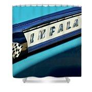 1959 Chevrolet Impala Emblem Shower Curtain