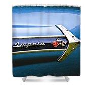 1960 Chevrolet Impala Emblem Shower Curtain