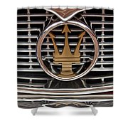 1960 Maserati 3500 Gt Coupe Emblem Shower Curtain