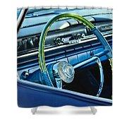 1961 Pontiac Catalina Steering Wheel Shower Curtain