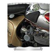 1966 Bsa 650 A-65 Spitfire Lightning Clubman Motorcycle Shower Curtain