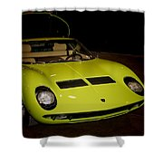 1968 Lamborghini Miura S Shower Curtain