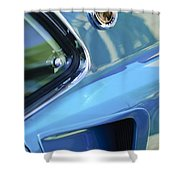 1969 Ford Mustang Mach 1 Emblem 2 Shower Curtain by Jill Reger
