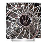 1972 Maserati Ghibli 4.9 Ss Spyder Wheel Shower Curtain