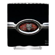 1973 Jaguar Type E Emblem Shower Curtain
