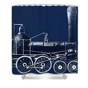 19th Century Locomotive Shower Curtain