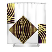 3 Square Shower Curtain