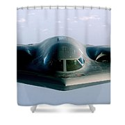 A B-2 Spirit Takes On Fuel Shower Curtain