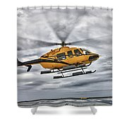 A Bell 407 Utility Helicopter Prepares Shower Curtain