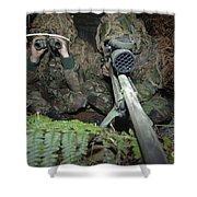 A British Army Sniper Team Dressed Shower Curtain
