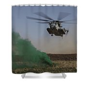 A Ch-53 Super Stallion Helicopter Shower Curtain
