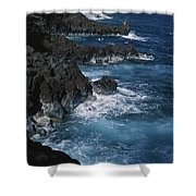 A Coastal View Of The Southeast Corner Shower Curtain