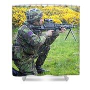 A Coldstream Guard Training In Scotland Shower Curtain