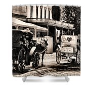 A Cowgirls Limousine Shower Curtain
