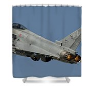 A Eurofighter F-2000 Of The Italian Air Shower Curtain