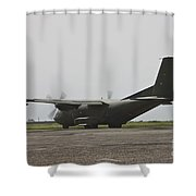 A German Air Force Transall C-160 Taxis Shower Curtain