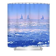 A Good Day For Sailing Shower Curtain
