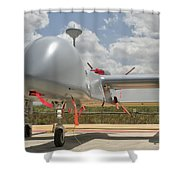 A Heron Tp Unmanned Aerial Vehicle Shower Curtain