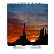 A New Day At The Totem Poles Shower Curtain