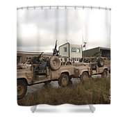 A Pink Panther Land Rover Shower Curtain
