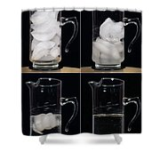 A Pitcher Of Ice Melts Over 4 Hours Shower Curtain
