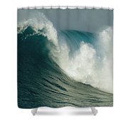 A Powerful Wave, Or Jaws, Off The North Shower Curtain