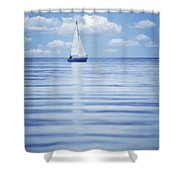 A Sailboat Shower Curtain