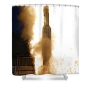 A Standard Missile 3 Is Launched Shower Curtain