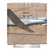A T-6 Texan Flying Over Camp Speicher Shower Curtain