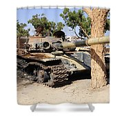 A T-72 Tank Destroyed By Nato Forces Shower Curtain
