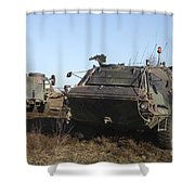 A Tpz Fuchs Armored Personnel Carrier Shower Curtain