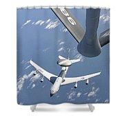 A U.s. Air Force E-3 Sentry Airborne Shower Curtain