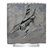 A U.s. Air Force F-16 Fighting Falcon Shower Curtain