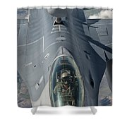 A U.s. Air Force F-16c Fighting Falcon Shower Curtain by Giovanni Colla