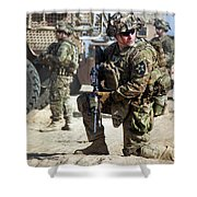 A U.s. Army Soldier Provides Security Shower Curtain